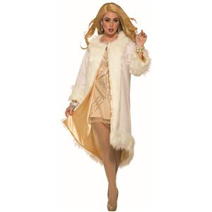 Faux Ritzy Elegant Fur Coat Adult Costume