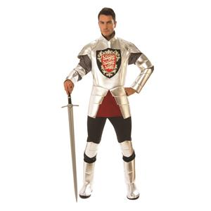 Rubie's Mens Silver Knight In Shining Armour Costume Size Standard