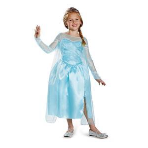 Frozen Elsa Snow Queen Gown Classic Girls Costume XS 3-4T