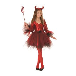 Rubie's Classic Devil Girls Costume Medium 7-8
