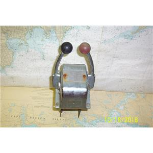 Boaters' Resale Shop of TX 1710 2752.27 MORSE DUAL LEVER ENGINE CONTROL ASSEMBLY