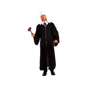 The Judge or Graduation Gown Adult Costume Black Robe