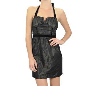 8 NWT BCBGeneration BCBG Maxazria Shirred Bust Halter Dress Chocolate Dark Brown