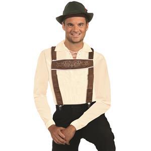 Oktoberfest Lederhosen Suspenders One Size