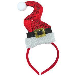 Forum Novelties Sequin Santa Squiggle Hat Headband, Multi-Color