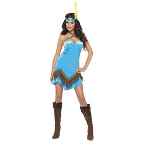 Fever Native American Indian Sexy Adult Costume Dress and Headband XS