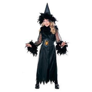 Pretty Witch Feathered Child Costume Size Large