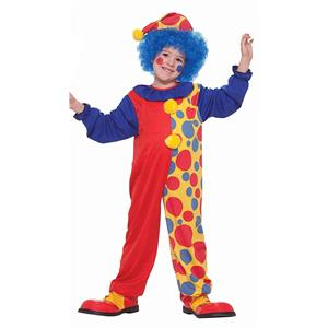 Clown Around The Town Child Red Polka Dot Clown Costume Large