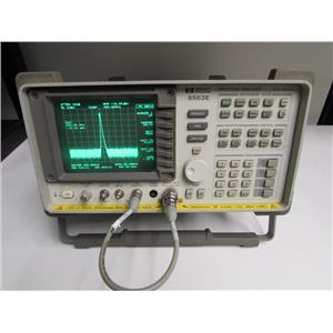 HP 8563E Spectrum Analyzer, 9kHz to 26.5GHz, type N, opt H50 w/ 85620A