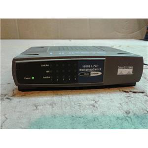 Linksys Cisco EZXS55W EtherFast 10/100 5-Port Workgroup Switch w/ AC ADAPTER