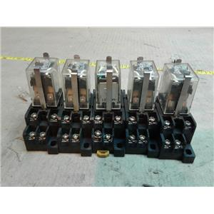 Omron LY2N-D2-24VDC RELAY 10/12A 24VDC 110/240VAC 1/2HP w/ Socket *lot of 5*