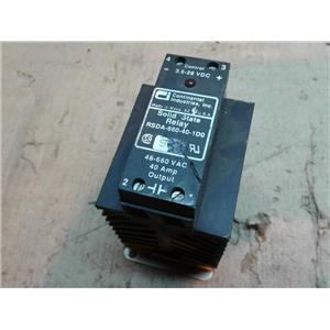 CONTINENTAL INDUSTRIES RSDA-660-40-1D0 RELAY SOLID STATE 48-660VAC 48AMP 4-28VDC