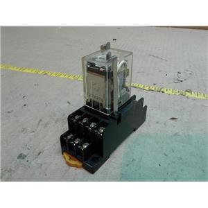 OMRON MY4N-D2-DC24 RELAY 5AMP 240VAC 24VDC COIL 4PDT 14BLADE W/LED w/ SOCKET