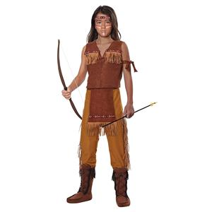 Classic Native American Indian Boy Child Costume Small 6-8