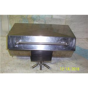 """Boaters Resale Shop of TX 1812 1521.07 MARINE 10"""" x 18"""" BBQ GRILL & RAIL MOUNT"""
