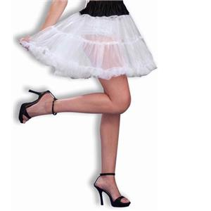 Above the Knee White Crinoline with Black Top