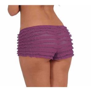 Lavender Purple Ruffled French Maid Panties