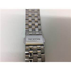 Nixon Original WatchBand/Bracelet 18mm.Stainless Steel Solid Linked. 5 1/2 inch