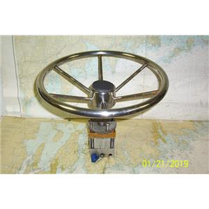 Boaters Resale Shop of TX 1901 0755.05 STEERING WHEEL & HELM PUMP ASSEMBLY