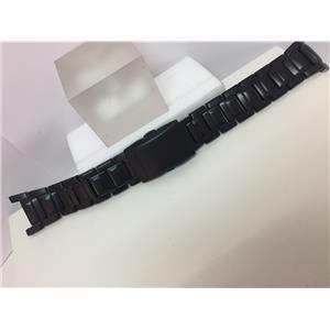 Casio Watchband/Bracelet G-501,G-800,GW-810,S-112L.Blk PVD Steel.Push But Deploy