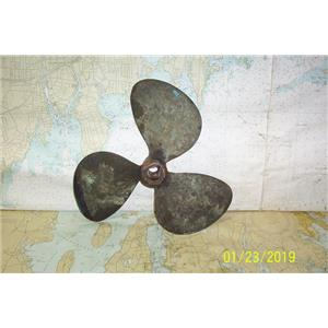 """Boaters Resale Shop of TX 1706 2442.15 BRONZE 3 BLADE 13LH9 PROP FOR 1"""" SHAFT"""