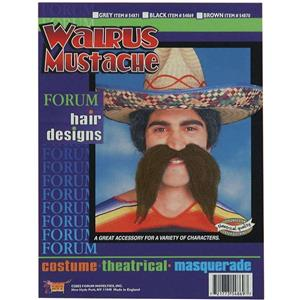 Self Adhesive Large Brown Walrus Mustache Disguise
