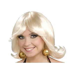 Forum Novelties Women's 70's Disco Fever Flip Style Blonde Wig, One Size
