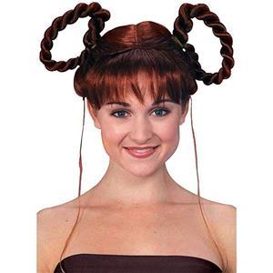Auburn Gretel or Heidi Braids Updo Wig