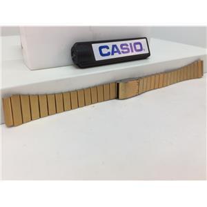 Casio Watch Band LA-670 Gold Tone Original Lds 13mm Wide Bracelet w/ Snap buckle