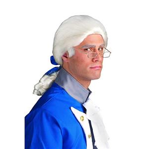White Historical Wig Colonial Style