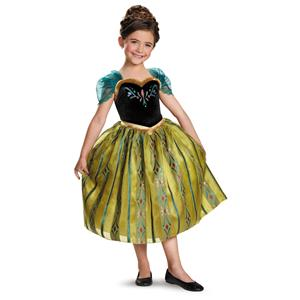 Disney's Frozen Anna Coronation Gown Deluxe Girls Costume, X-Small/3T-4T