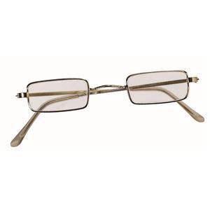 Square Wire Rim Santa Miss Claus Ben Franklin Old Style Specs Costume Glasses