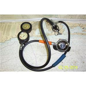 Boaters Resale Shop of TX 1809 2275.05 AQUA LUNG REGULATOR, GUAGE & MOUTHPIECE