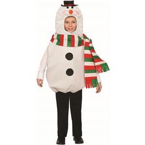 Child Snowman Christmas Costume Kids Tunic
