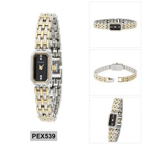 Pulsar Watch PEX539 Ladies Traditional. Two Tone Case/Bracelet. 50% Off MSRP
