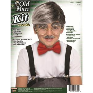 Child Old Man Kit Boys 100 Days of School Costume Kit