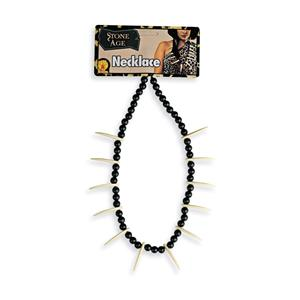 Stone Age Witch Doctor Bone Voodoo Fang Caveman Necklace Costume Jewelry