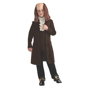 Rubie's Boy's Benjamin Franklin Child Costume Size Medium 8-10