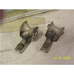 """Boaters' Resale Shop of TX 1904 5201.15 PAIR OF 1"""" TRACK CAR LEAD BLOCKS"""