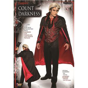 Count Darkness Red and Black Modern Vampire Costume