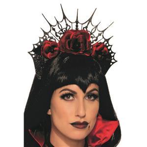 Gothic Flower Vampire Rose Headband Crown Costume Accessory
