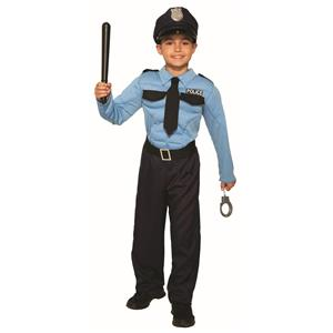 Police Officer Hero Child Cop Uniform Costume Medium 8-10