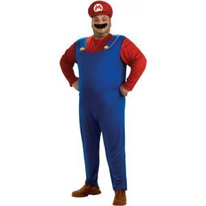 Super Mario Brothers Mario Costume, Blue, Plus