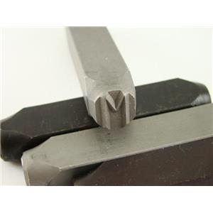 """1/2"""" Letter """"M"""" Stamp-Punch-Hand-Tool-Gold Bar-Silver-Trailer-Metal-Leather"""