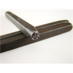 """Triple Spiral""  3/16""-5mm-Stamp-Metal-Hardened Steel-Gold&Silver Bars"