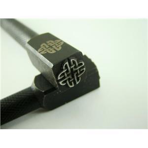 """Celtic Knot""  3/8""-10mm-Large Stamp-Metal-Hardened Steel-Gold & Silver"