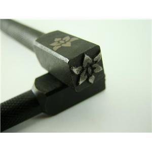 """Lotus Flower""  3/8""-10mm-Large Stamp-Metal-Hardened Steel-Gold&Silver (H39"