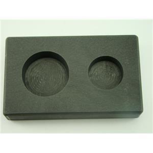 2 oz & 5 oz Round Gold Bar High Density Graphite Mold Combo Loaf Silver