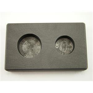 1 oz & 2 oz Round Gold Bar High Denisty Graphite Mold Combo - Silver Copper