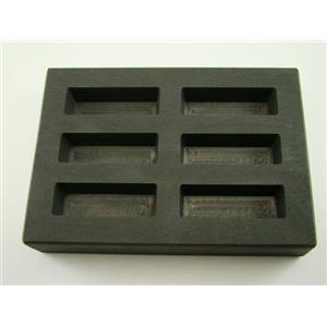 4 oz KitKat Gold Bar High Density Graphite Mold - 2 oz Silver 6-Cavities